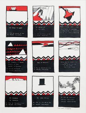 Donn Ratana, 'Tainui Series' 1990, Screen print, The University of Waikato Art Collection
